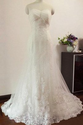 Appliques Mermaid Lace Capped Sleeves Tulle Wedding Dress