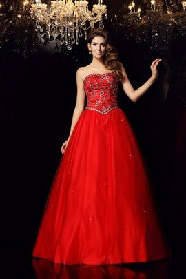 Lace-up Beading Long Satin Floor Length Quinceanera Dress