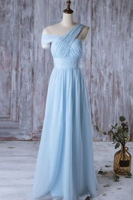 Simple One Shoulder Vintage A-Line Ruffles Bridesmaid Dress