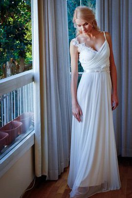 Floor Length Beading Lace Informal & Casual Sashes Wedding Dress