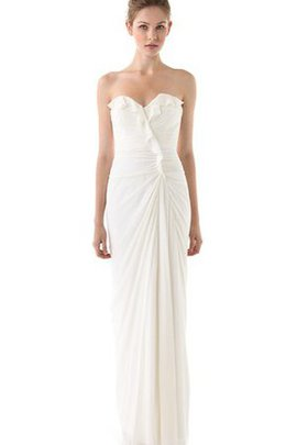 Natural Waist Long Floor Length Backless Wedding Dress