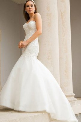 Beading Sweep Train Elegant & Luxurious Sexy Organza Wedding Dress