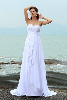 Zipper Up Princess Sweetheart Sleeveless Empire Waist Wedding Dress