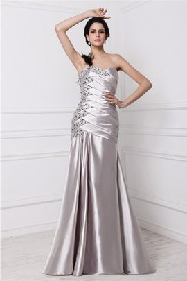 Draped Beading A-Line Natural Waist Evening Dress