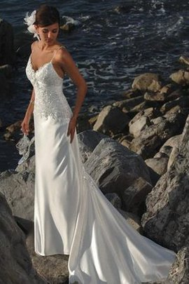 Sleeveless Satin Informal & Casual Spaghetti Straps Ruched Wedding Dress