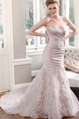 Sweetheart Natural Waist Lace-up Sheath Sleeveless Wedding Dress