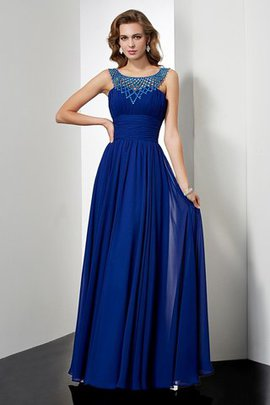 Long Sleeveless Empire Waist Chiffon Floor Length Evening Dress