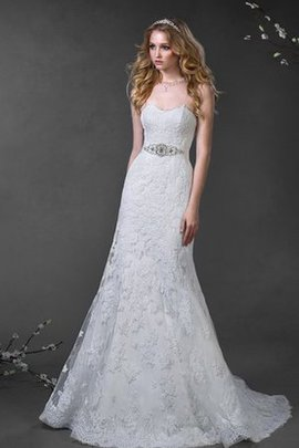 Lace Sweetheart Lace-up A-Line Floor Length Wedding Dress