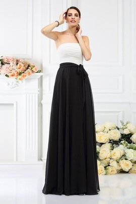 Zipper Up Floor Length Sleeveless Princess Strapless Bridesmaid Dress