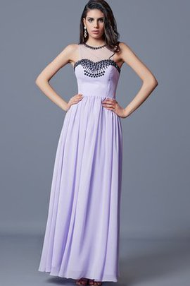 Keyhole Back Chiffon Jewel Sleeveless Floor Length Evening Dress