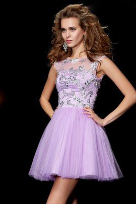 Short Sleeves Zipper Up Short Princess Bateau Homecoming Dress