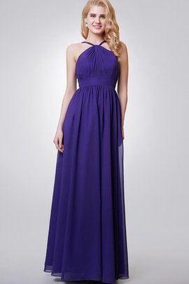 Chiffon Floor Length Sashes Pleated Ruched Bridesmaid Dress