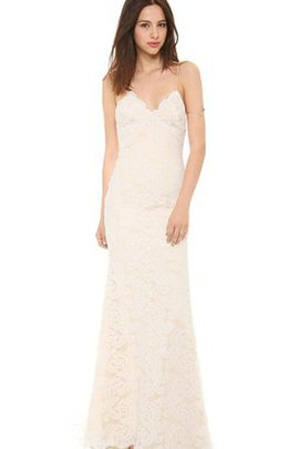 Natural Waist Long Sexy Sweep Train Spaghetti Straps Wedding Dress