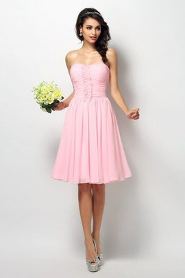 Princess Natural Waist Sleeveless Pleated Strapless Bridesmaid Dress