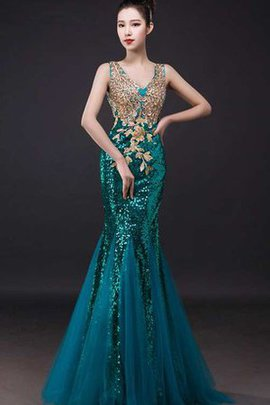 Elegant & Luxurious Sleeveless Tulle Mermaid Sexy Prom Dress