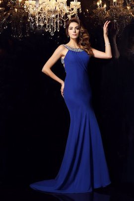 Sleeveless Chiffon Beading Mermaid Long Evening Dress