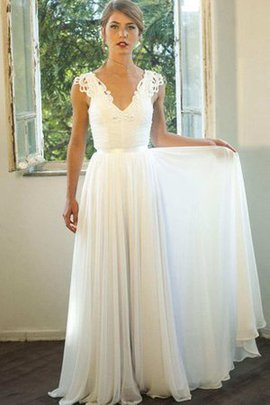 Appliques Floor Length Ruched Sleeveless Beading Wedding Dress