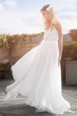 Elegant & Luxurious Appliques Ruched Sleeveless Simple Wedding Dress