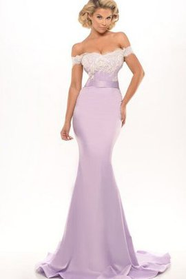Floor Length Off The Shoulder Mermaid Appliques Evening Dress