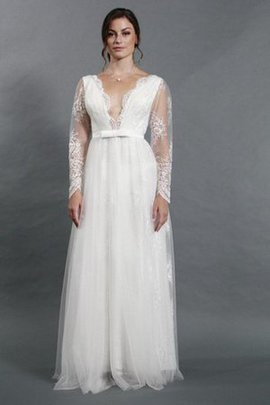 Informal & Casual Simple Sexy Long Sleeves Appliques Wedding Dress