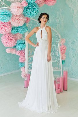 Backless Simple Chiffon Beading Informal & Casual Wedding Dress