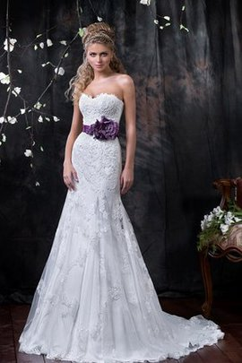 Sweep Train Sweetheart Floor Length Mermaid Elegant & Luxurious Wedding Dress