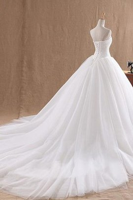 Sweetheart Ball Gown Organza Lace Fabric Sleeveless Wedding Dress