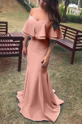 Natural Waist Sleeveless Ruffles Sheath Off The Shoulder Fabulous Evening Dress