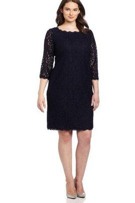 Lace Fabric Sheath Simple Long Elegant & Luxurious Cocktail Dress