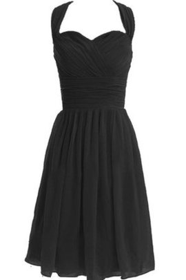 Knee Length A-Line Halter Pleated Ruched Cocktail Dress