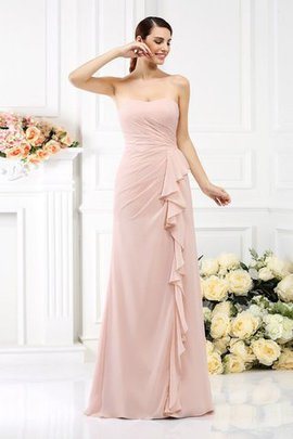 Strapless Zipper Up Princess Sleeveless Pleated Bridesmaid Dress