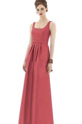 Square Sleeveless Long Ruched Bridesmaid Dress