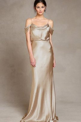 Floor Length Pleated Simple Sleeveless Elegant & Luxurious Bridesmaid Dress