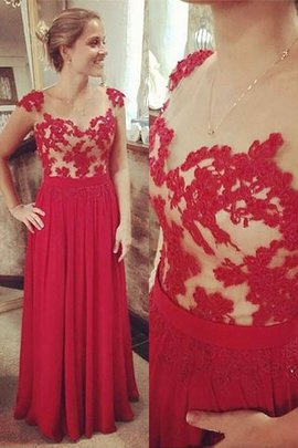 A-Line Sleeveless V-Neck Empire Waist Prom Dress