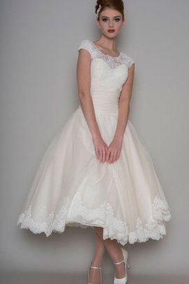 Tea Length Romantic Lace Informal & Casual Wedding Dress
