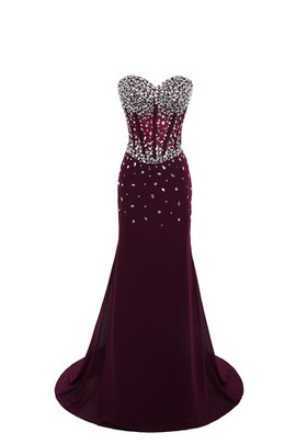Formal A-Line Jewel Accented Exclusive Church Evening Dress
