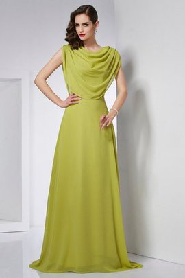 Long High Neck Sweep Train Natural Waist Princess Evening Dress
