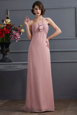 One Shoulder Chiffon Zipper Up Sleeveless Draped Bridesmaid Dress