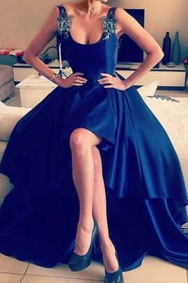 Princess Stunning Asymmetrical Sleeveless Appliques Zipper Up A-Line Prom Dress