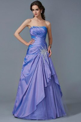 Taffeta Zipper Up Strapless Ball Gown Empire Waist Quinceanera Dress