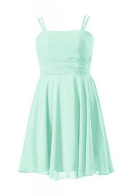 Lace-up Short Chiffon Ruched Sleeveless Bridesmaid Dress