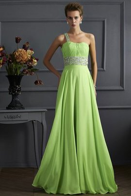 Beading Long Princess One Shoulder Empire Waist Prom Dress