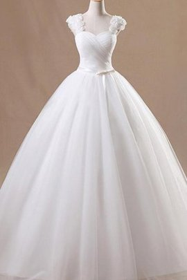 Flowers Amazing Tulle Sweep Train Formal Rectangle Vintage Wedding Dress