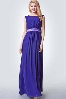 Long Capped Sleeves Bateau Chic & Modern A-Line Bridesmaid Dress