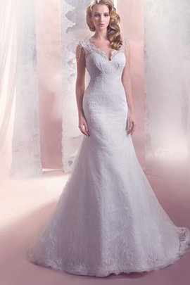 Lace Court Train Natural Waist Floor Length Mermaid Wedding Dress