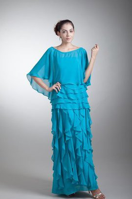 Chiffon Strapless Cascading Ruffle Ankle Length Mother Of The Bride Dress