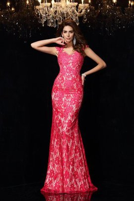 Sleeveless Elastic Woven Satin Floor Length Natural Waist Lace Prom Dress
