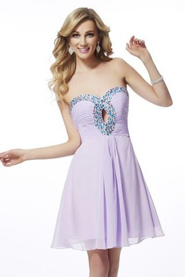 Zipper Up Short Sleeveless Sweetheart Princess Homecoming Dress