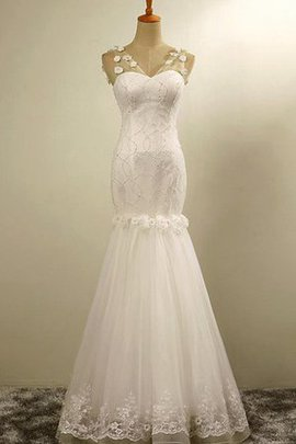 Pleated Long Fancy Lace-up Ankle Length Wedding Dress