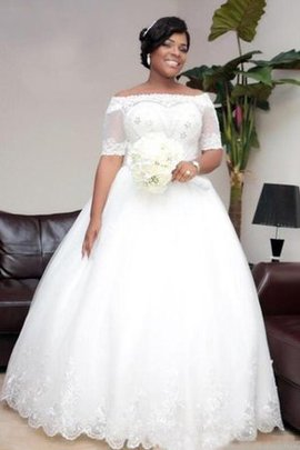Sleeveless Zipper Up Off The Shoulder Plus Size Pleated Wedding Dress
